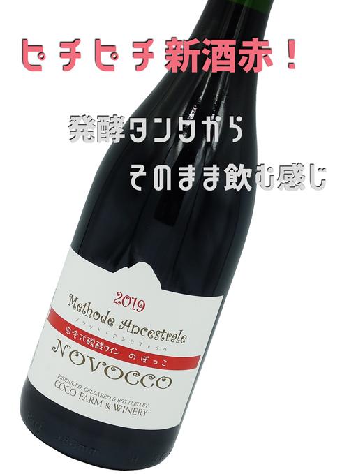 ココファーム・NOVOCCO(のぼっこ) 田舎風スパーク 新酒赤